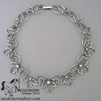 Sterling Silver Necklace designed by Christoffersen for International Silver Company