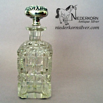 Cologne Perfume Bottle With Gorham Stopper