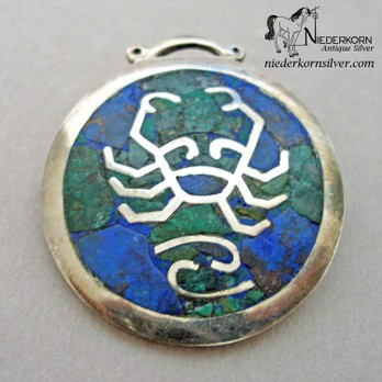 Los Castillo Cancer Pendant Pin Combination
