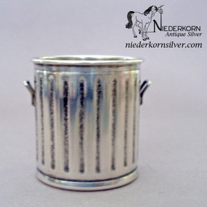 Sterling Silver Miniature Trash Can